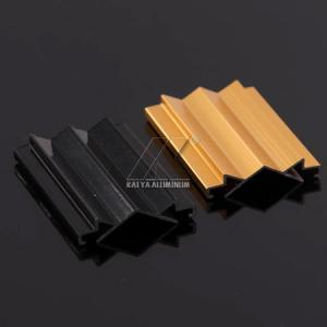 China 6063 T5 Aluminum Sliding Door ProfileBlack Anodized Extrusted Heat Insulation on sale