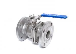 China 2pc Flanged Ball Valve  SCS13 SCS14 50A 80A JIS10K Handle operated on sale