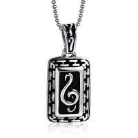 Stainless steel necklace and pendants music note lucky pendant