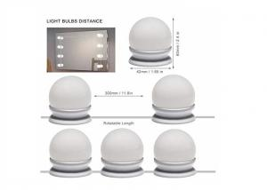 China 6000K 2 Color Lighting Modes LED Cosmetic Mirror With 10 Dimmable Light Bulbs on sale