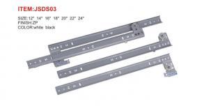 China Galvanized Sheet Metal Furniture Drawer Slides Zinc Plated Side Mounted on sale