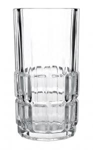 China Long Water Cup Whiskey Drinking Glass Juice Breakfast Milk Classical Style on sale