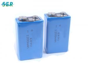 China ER9V 1200mAh 9V Lithium Battery , Li SOCl2 Rechargeable 9 Volt Lithium Ion Battery  on sale