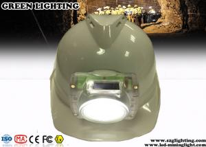 China IP68 Cordless Cap Lamp Mining 13000 Lux Brightness 3 Watt Lamp Power on sale