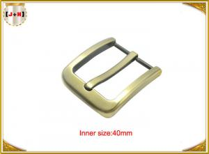 China Gold Zinc Alloy Pin Metal Belt Buckle / Mens Fashion Belt Buckles on sale