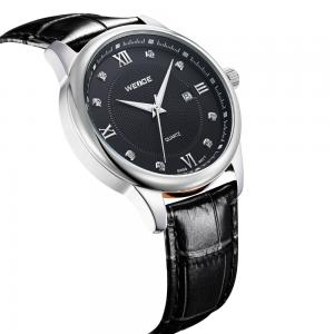China commercial quartz watch genuine leather watchband waterproof mens watch on sale