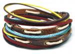 Pulseras de cuero de encargo/pulsera D0007 del varón de piedra natural/del cáñamo femenino del cordón del algodón
