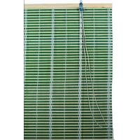 Green Bamboo  Window Blinds Woven Wood Blinds Curtains / Roll Up Window Shades
