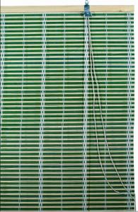 China Green Bamboo  Window Blinds Woven Wood Blinds Curtains / Roll Up Window Shades on sale