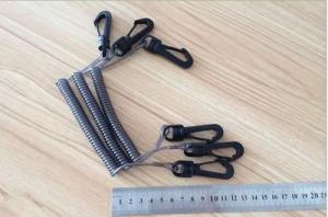 China Hot Sales Safety Product Cheap Plastic Spring Spiral Short Leash Chain w/Plastic Snap Hooks on sale