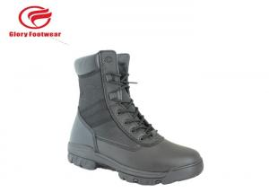 China Stitching S1 / S1P Standard Leather Military Boots , Black Desert Tactical Boots For Men on sale