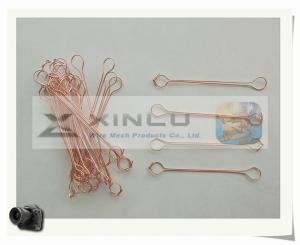 China Copper Coated Double wire ties / Copper Double wire Bar tie wires / Double loop wire ties on sale