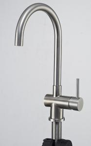 China W01-008 kitchen basin sink mixer tap Stainless steel brushed finished cold hot on sale