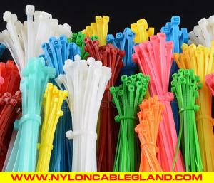 China High quality self-locking plastic cable ties eco-friendly plastic tie wraps with CE, ROHS, REACH, UV on sale