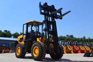 China 10ton/12ton all terrain forklift 10ton/12ton rough terrain forklift truck with Cummins engine on sale