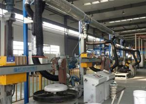 China Grinding Dust Internal Suction Fume Extraction Arms PVC Material Stainless Steel Support on sale