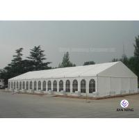 600 ~ 1000 Person Aluminum Frame Tent , White PVC Event Tent With Double Wing Glass Door