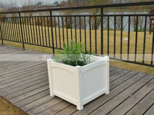 China 150001 square polywood flower pot  environment friendly top design outdoor furniture on sale