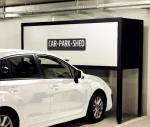 Garage Over Bonnet Storage Locker H2300mm Height Black / Blue / Brown Door Optional