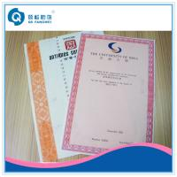 A4 Customized Certificate Printing Service With Art Paper / Coated Paper