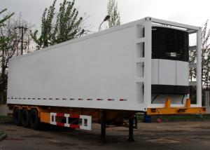 China 45 Foot GRP Sandwich Refrigerated Truck Trailer For Freezing And Fresh Cargos on sale