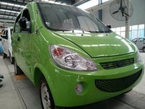 China Green Four People 60V 3500W Pure Electric Cars , Family Electric Powered Vehicles on sale