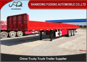 China Flatbed type side wall semi trailer and Container truck trailer for sale on sale
