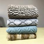 Custom Printed Sherpa Fake Fur Bedding Blanket , Brush Pv Fleece Blanket 200*220CM