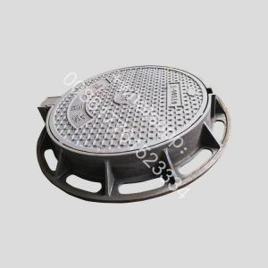 China OEM en124 d400 600*600mm rain water drainage ductile iron manhole cover with frame on sale