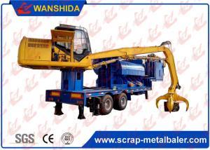 China Portable Waste Steel Scrap Baler Logger , Full Automatic Car Bodies Hydraulic Baler Machine on sale