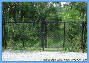 China Woven Vinyl Coated Chain Link Fence Gate With Galvanized Steel Wire Fit Backyards on sale