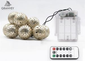 China 3.5M 10 Led Xmas Battery Powered Led Rope Lights Morocco Ball String High Brightness on sale