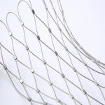 316 316L rope cable wire net stainless steel wire rope mesh net  zoo mesh