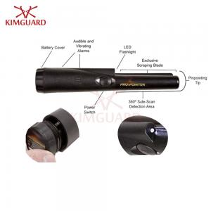 China Rechargeable Black Hand Held Metal Detector Super Scanner 9v Battery Cylindrical on sale