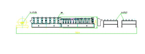 7.5Kw 20 Forming Station Custom Downpipe Roll Forming Machine For Rainwater Downpipe