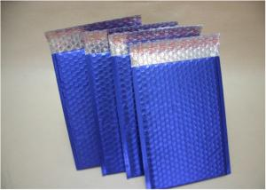 China Blue Metallic Decorative Bubble Mailing Envelopes For Courier Company Using on sale