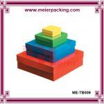 Recicle a caixa de empacotamento ajustada ME-TB009 do presente cosmético da caixa de papel