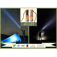 Outdoor Solar Camping ABS High Power Led Flashlight Rechargeable With ROHS / CE