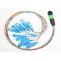 MPO MTP SC Fiber Optic Jumper 12 Core Simplex Telecommunication Fiber Optic Cable