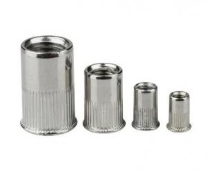 China Big Countersunk Rivet Nut Heavy Hex Nuts Steel Material With Vertical Stripes on sale