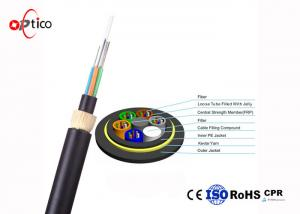 China 100m Span Fiber Optic Cable ADSS All - Dielectric Self Supporting Aerial on sale