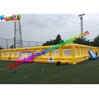 Customized Four Goal Inflatable Football Arena , Soapy Football Soccer Pitch