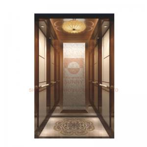 China Floor Marble Mosaic Car Design Elevator Cabin Decoration For Hotel Elevator / Passenger Lift on sale
