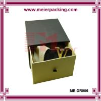 Leather tie rigid cardboard paper box for men belt, apparel slider box ME-DR006