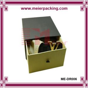 China Leather tie rigid cardboard paper box for men belt, apparel slider box ME-DR006 on sale