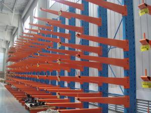 China Insertion Upright Metal Industrial Storage Racks Cantilever for Pipe / Steel on sale