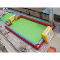 Exciting Water Inflatable Soccer Field , Football Inflatable Soap Court for Kids