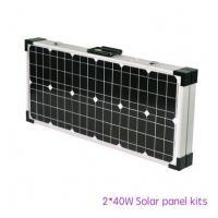 2 X 40W Solar Panel Kits For  Camping , Sunpower Solar Cells TUV IEC