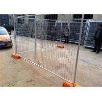 Temporary Chain Link Fence Post Base / Temporary Steel Fencing Industrial Style