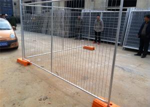 China Temporary Chain Link Fence Post Base / Temporary Steel Fencing Industrial Style on sale
